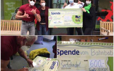 Der Bahnbabo  und seine Frau spenden 600 Euro an MainLichtblick!