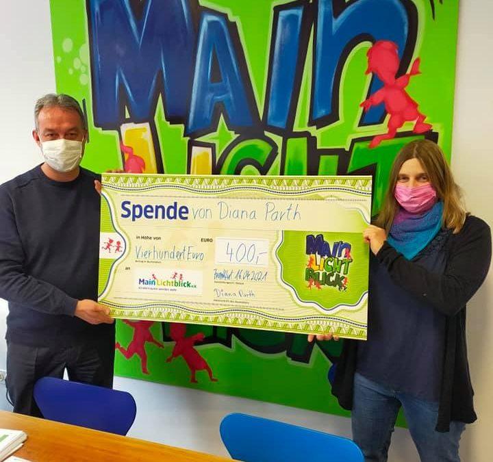 Diana Parth spendet 400 € für einen unerfüllten Wunsch