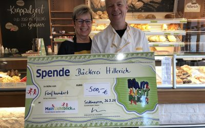 Bäckerei Hillerich spendet für Kinder in Not.