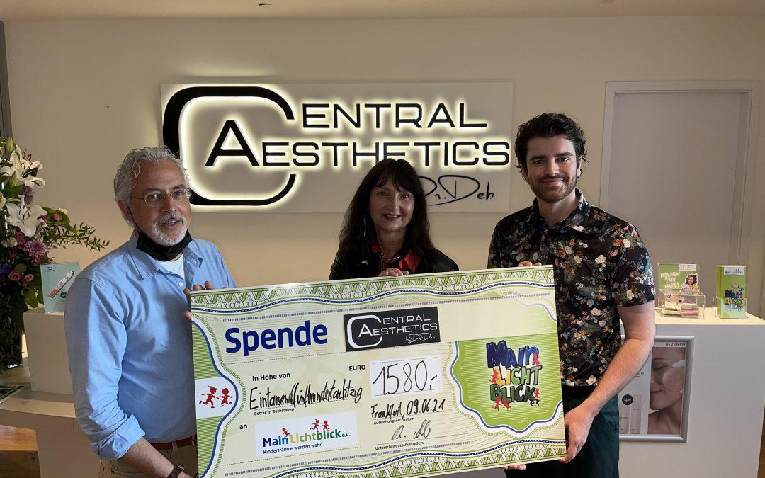 Central Aesthetics spendet 1580 €