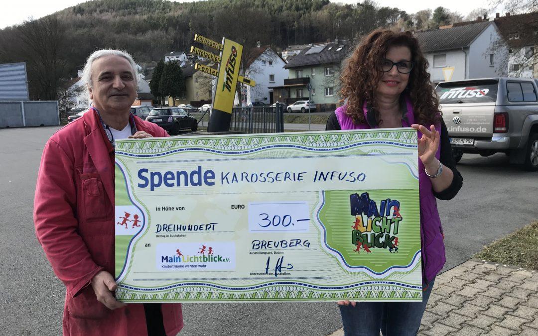 Karosseriebau INFUSO aus Breuberg-Sandbach spendet 300 €