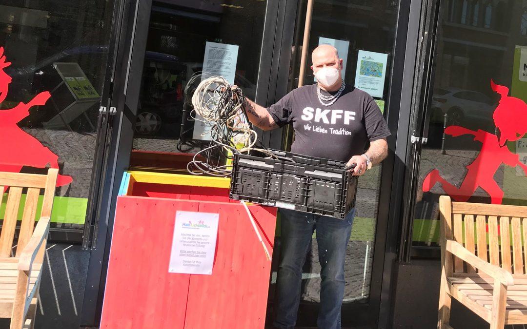 Kutten Paule Jens spendet Kabel zum Recycling – so werden Wünsche wahr!