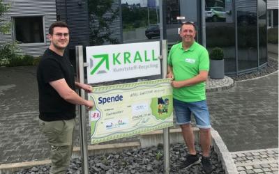 500 Euro Spende von Krall Kunststoff–Recycling GmbH