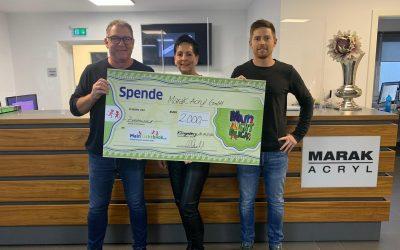 2.000 €  Weihnachtsspende von Marak Acryl GmbH an MainLichtblick e.V.