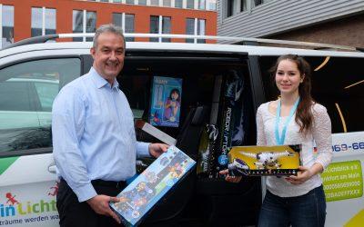 Spielzeugspende der Jazwares GmbH an MainLichtblick