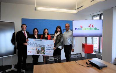 Sheraton übergibt Spendenscheck an MainLichtblick