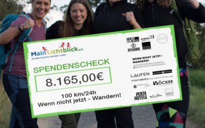22 Stunden 355 Kilometer und 8.165 € Spende an MainLichtblick e.V.