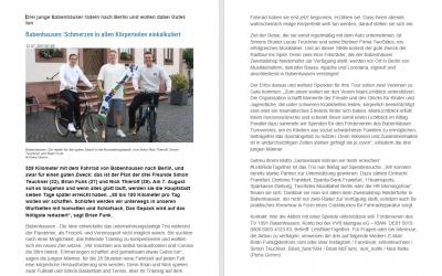 Drei junge Babenhäuser radeln nach Berlin und wollen dabei Gutes tun aus der Offenbach Post