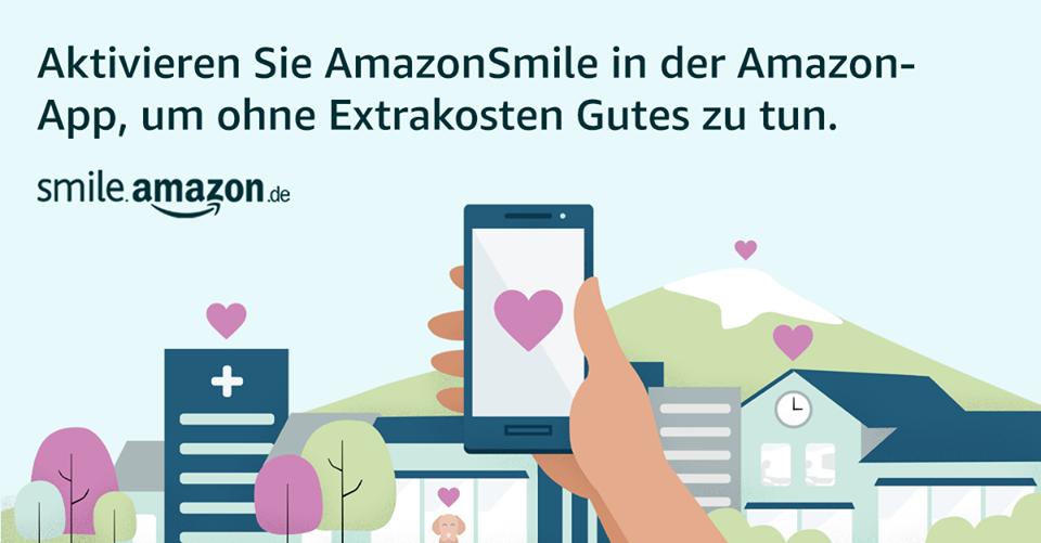 Online Shopper aufgepasst: Amazon-Smiles ab jetzt auch für's Smartphone!